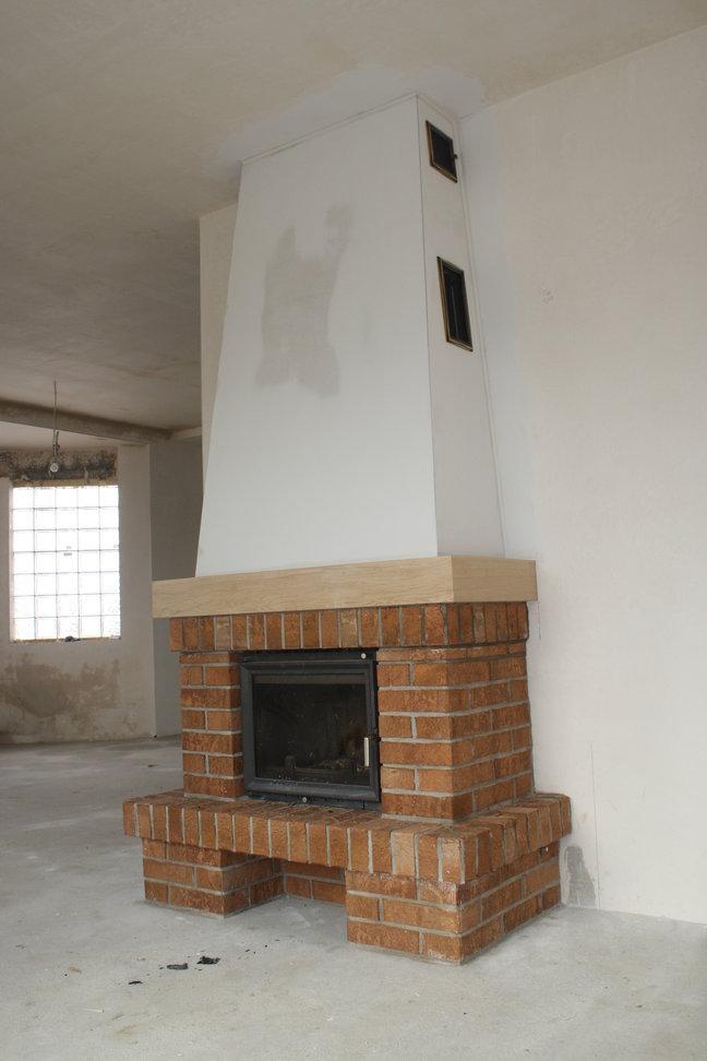 kominek tradycyjny z cegły Pszczyna