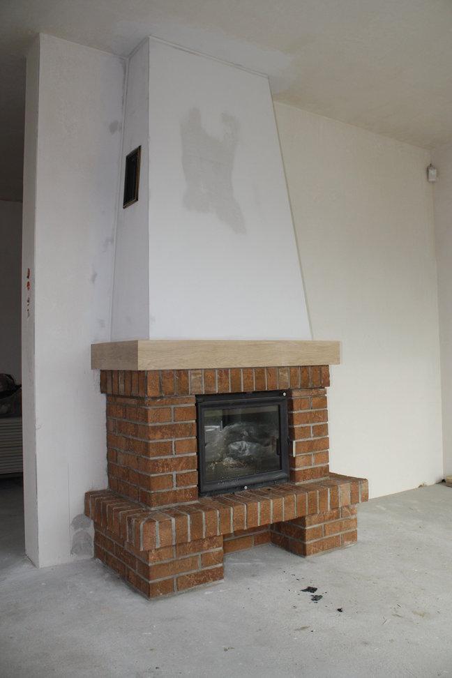 kominek klasyczny z cegły Pszczyna