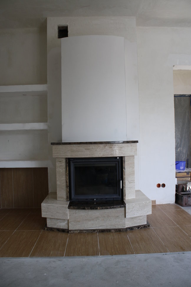 kominek tradycyjny z marmurowy Jastrzębie